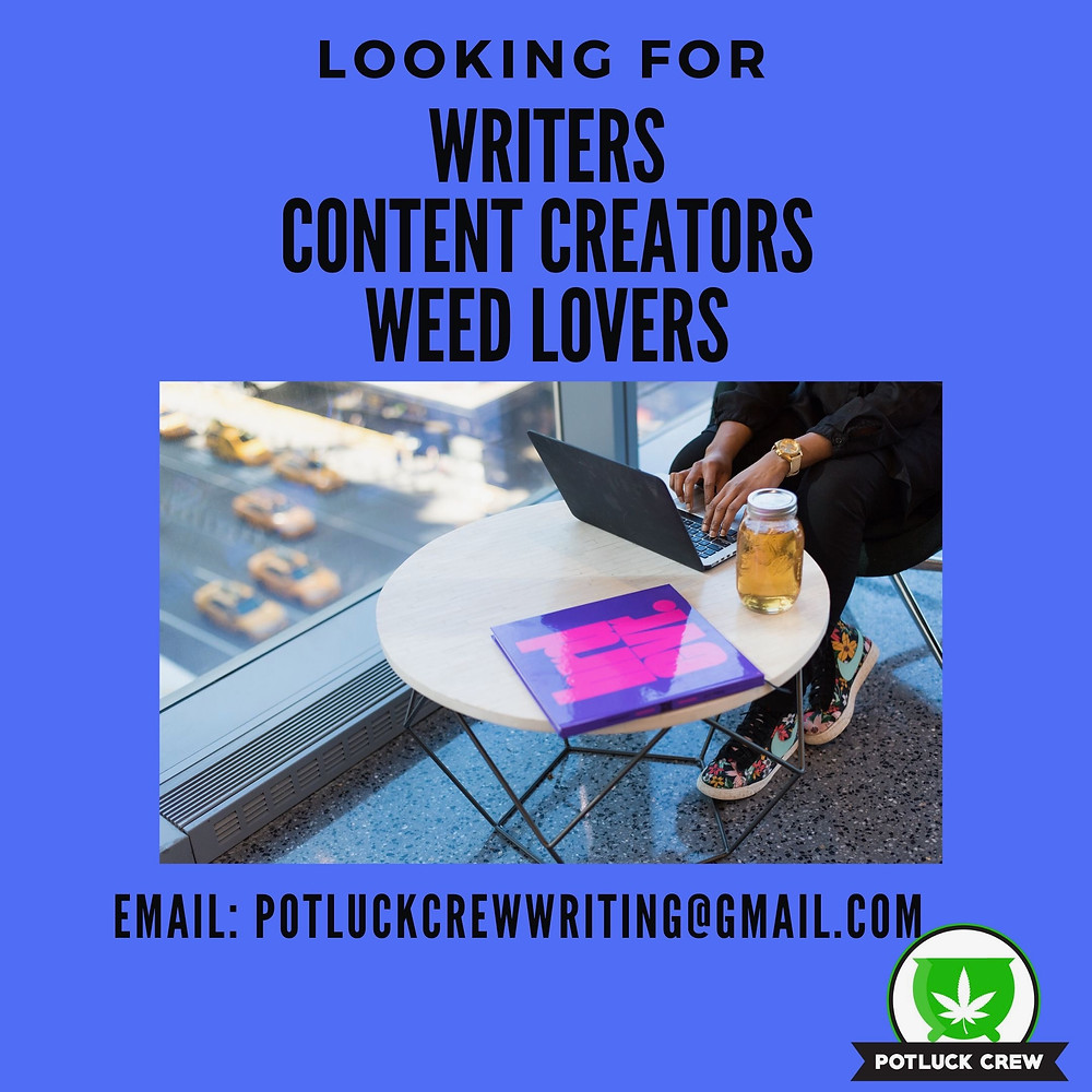 Potluck Crew is looking for writers, content creators, weed lovers.