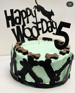 Speciality birthday cakes made at  Sandys Grooming Tails & K9 Cafe