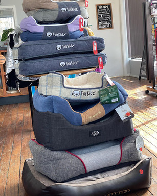 Dog Beds are our specialty at  Sandys Grooming Tails & K9 Cafe