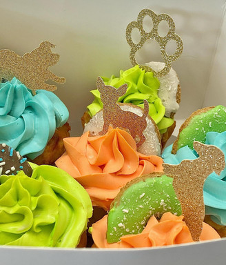 homemade pupcakes at  Sandys Grooming Tails & K9 Cafe