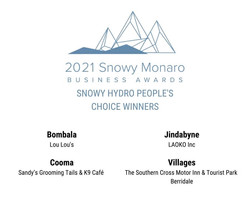 2021 Snowy Monaro Business Awards Sandys Grooming Tails Peoples Choice