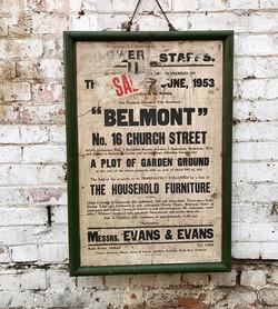 Vintage Advertising Hoarding Sign.