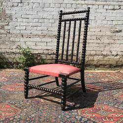 Victorian Ebonised Bobbin Chair
