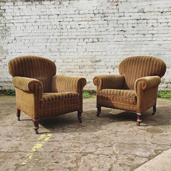 New in, A pair of Victorian armchairs on