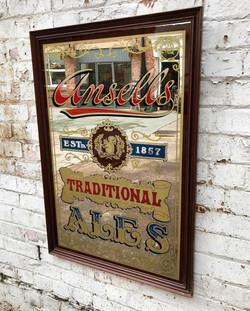 Vintage Ansells Advertising Mirror
