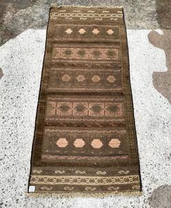 Neutral Tones - Afghan Runner Rug