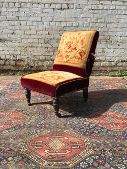 Red Velvet & Carpet Chair