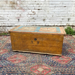 Large country house painted chest