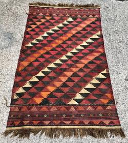 Jazzy Afghan Kilim Rug