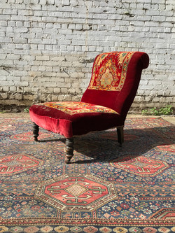 Victorian Carpet Nursing Chair