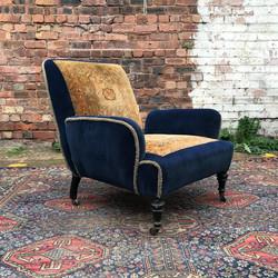 Velvet & Carpet Armchair