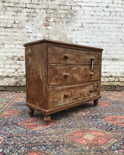Victorian Scumbled Painted Pine Chest Of