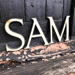 Enamel Letters