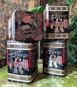 Oriental Tea Tins
