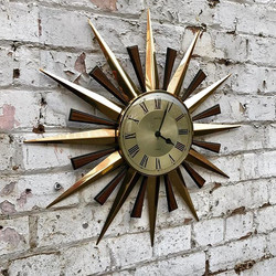Mid Century Metamec Sunburst Clock