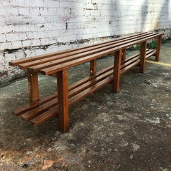 8ft + 60's Oak Changing Room Bench