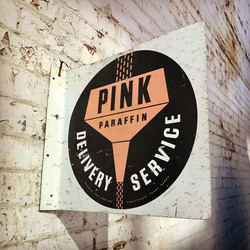 Pink Paraffin Delivery Service Sign