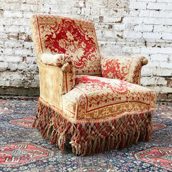 French 19th Century Carpet Armchair