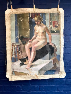 Nude - Oil on canvas - D Ransford