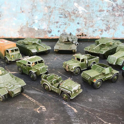 Vintage Dinky Military Toy Cars