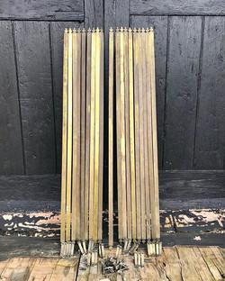 19 Victorian Stair Rods, 38 Brackets