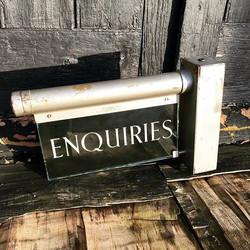 1930's Enquiries Sign KFM Fluorolite