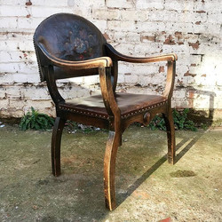 A lovely Oak and Leather Armchair
