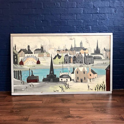 Lowry esque painting