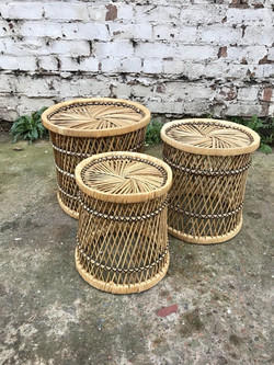 Set Of 3 Graduated Plant Stands
