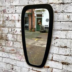 Mid Century Black & Brass Mirror