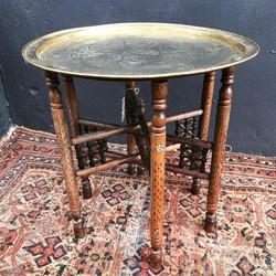 Islamic Brass Tray Table