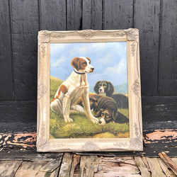 Dogs - Oil On Canvas