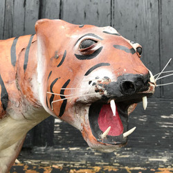 Large Leather Wrapped Tiger