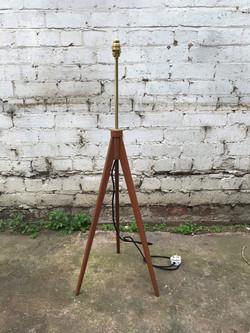 Mid Century Teak Tri-Pod Lamp