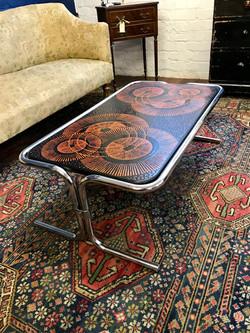 1970's Chrome Coffee Table