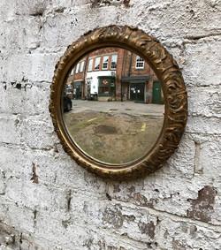 French Acanthus Leaf Convex Mirror