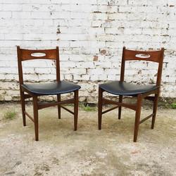 Pair of Danish Teak Dining Chairs.