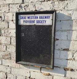 GWR Notice Board, Circa 1900