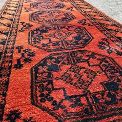 Mid Century Afghan Runner Rug