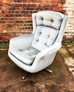 1970's Tilt/Swivel Wingback Chair