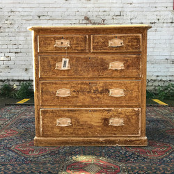 Victorian Dry Scraped Chest Of Drawers