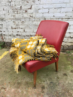 Welsh Wool Tapestry Double Blanket