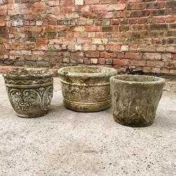 Vintage concrete planters available now
