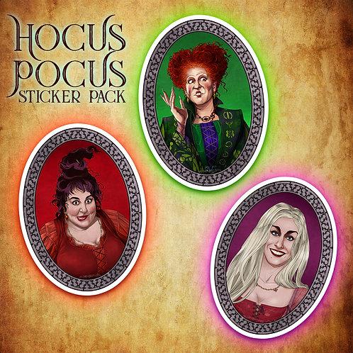 HOCUS POCUS STICKERS // PACK (3)