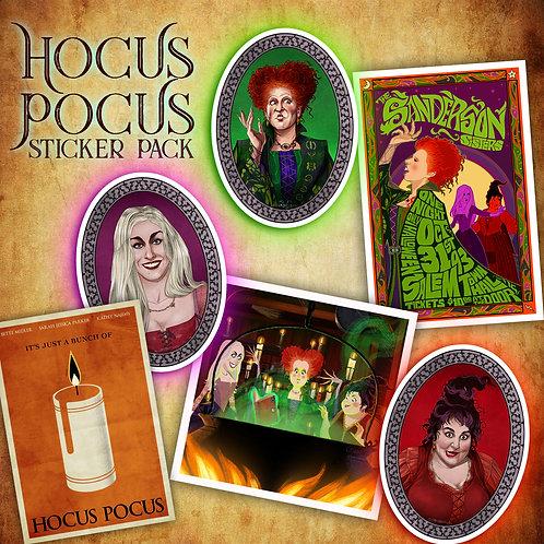 HOCUS POCUS STICKERS // FULL PACK (6)