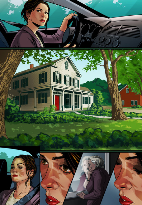 Harvard Gardens Comic Book Page