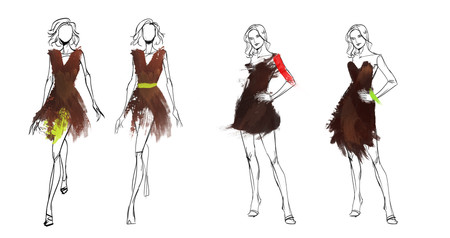 Dole Chocolate Campaign - Fashion Illustrations