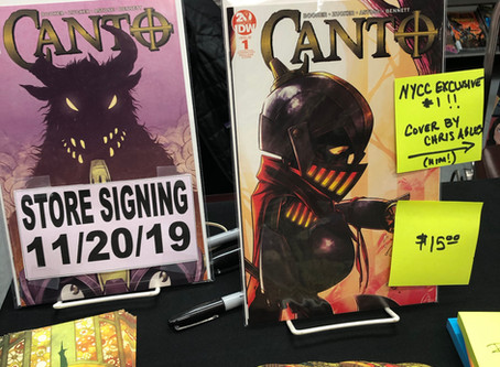 CANTO Signing at The Comic Bug