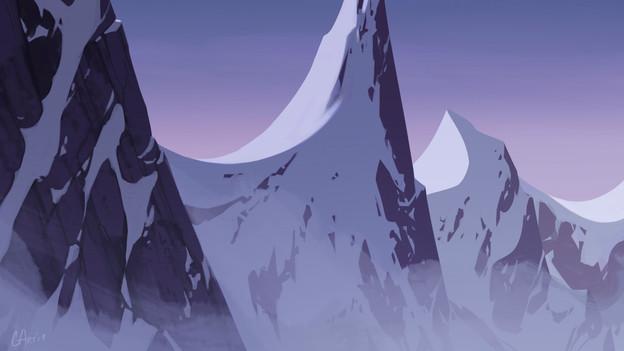 Environment - Snowy Purple Mountains