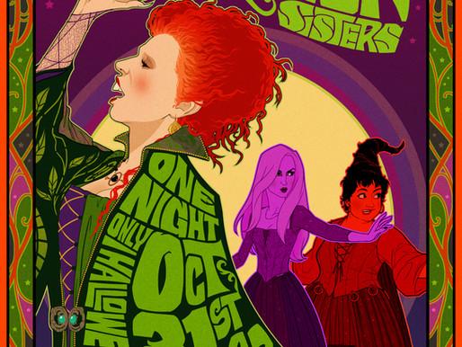 Artwork Featured During Hocus Pocus 25th Anniversary Halloween Bash on Freeform